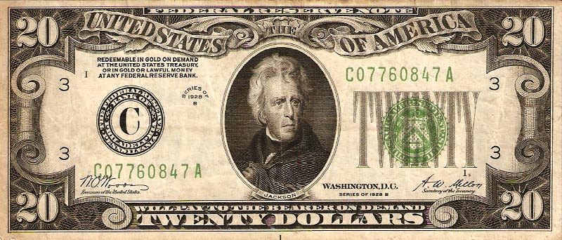 should andrew jackson be on the 20 dollar bill essay Kayla taley andrew jackson and the twenty dollar bill andr w jackson was not always on the twenty dollar bill hi face did not appear there until 1928.